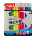 Карандаши цветные Maped COLOR'PEPS 18цв метал. Пенал