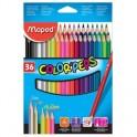 Карандаши цветные Maped COLOR'PEPS 36 цв.