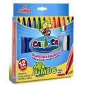Фломастер 12цв.,Jumbo,картон упаков,Carioca,40569