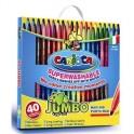 Фломастер 40цв.,Jumbo,картон упаков,Carioca,41257