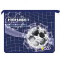 Папка для тетрадей Футбол на синем А5 плст. молния ПТ-073-3D 8323