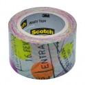 Клейкая лента декор. 3M Scotch Washi C314-P1, 30 мм х 10 м, путешествие