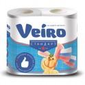 Бумага туалетная VEIRO 2-сл.,белая с тисн.,4рул./уп.4c24
