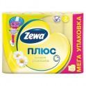 Бумага туалетная ZEWA-Plus 144089 аром.РОМАШКА желт.2-сл.12рул./уп.