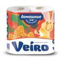 Полотенца бумажные VEIRO Домашние 2-сл., с тиснением, 2рул./уп. 3п22
