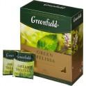 Чай Greenfield Green Melissa зеленый фольгир.100пак/уп