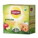 Чай Lipton Green Apple Strudel зеленый, 20 пакетиков