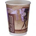 Стакан одноразовый двухслойный бумажный Coffee break, 300мл, 25 шт