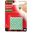 Клейкая лента монтажные квадраты 3M SCOTCH 111, 25х25мм, 16шт.(до 900г)