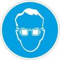 Знак безопасности M01 Работать в защитных очках (плёнка,200х200)