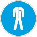 Знак безопасности M07 Работать в защитной одежде (плёнка,200х200)