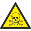 Знак безопасности W03 Опасно. Ядовитые вещества (плёнка,200х200)