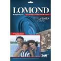 Бумага для фото А4 20л 260г/м2 LOMOND полуглянцевая 1103301