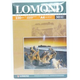 Бумага для фото А4 50л 230г/м2 LOMOND матовая