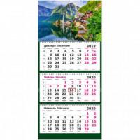 Календарь 3-блочный 2020 Европа 305*675, 80г/м2