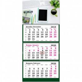 Календарь 3-блочный 2020 Офис 305*675, 80г/м2