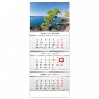 Календарь 3-блочный 2020 Горы и море 335*840, 80г/м2
