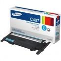 Расход.матер. д/лаз.принт.факсов Samsung CLT-C407S гол. для CLP-320/325/CLX-3185