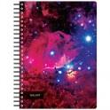 Бизнес-тетрадь 120л,А5,Space Galaxy,210х152мм,70квм,белый,карман
