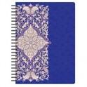 Бизнес-тетрадь 80л,А5,Арабеска,210х152мм,70квм,белый,фиолетовый