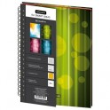 Бизнес-тетрадь Be Happy,А4,120л,200х274,3 раздел, клетка,зеленый,0002